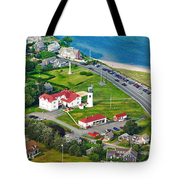 Chatham Lighthouse Cape Cod Massachusetts Tote Bag by Matt Suess