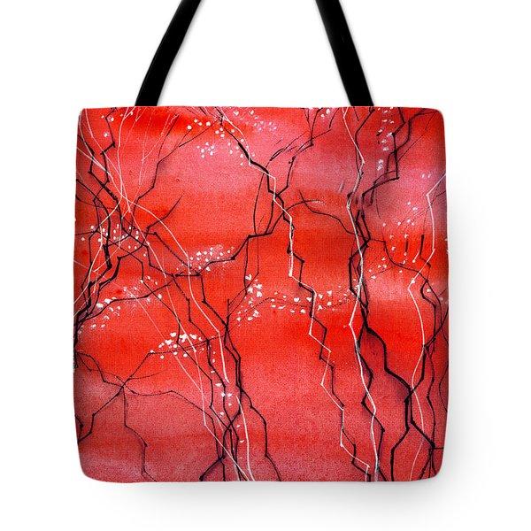 Cheery Blossom Tote Bag by Anil Nene