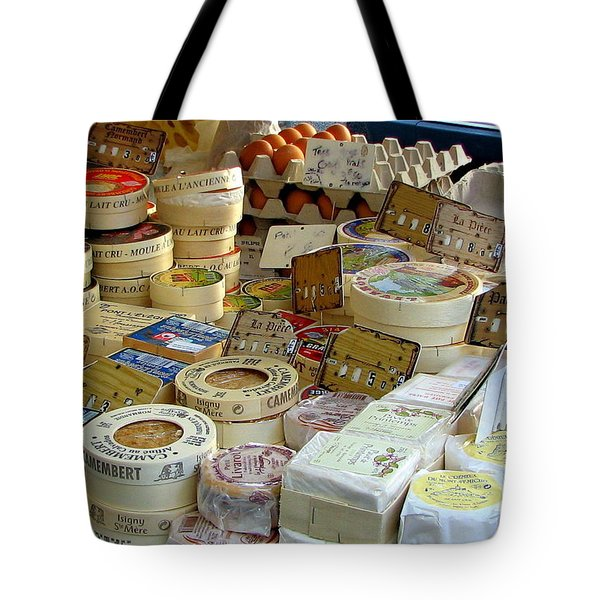 Cheese For Sale Tote Bag by Carla Parris