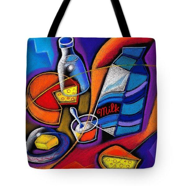Cheese Tote Bag by Leon Zernitsky