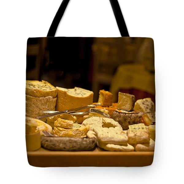 Cheese Selection Tote Bag by Nomad Art And  Design