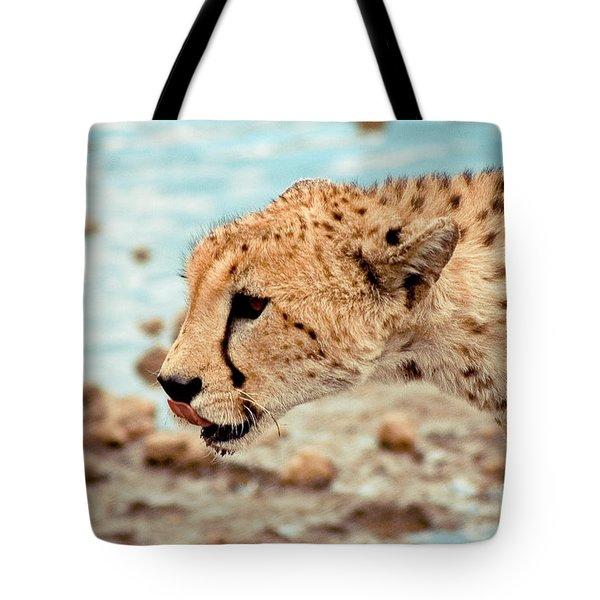 Cheetah Headshot Tote Bag by Darcy Michaelchuk