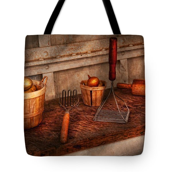 Chef - Food - Equipment For Making Latkes Tote Bag by Mike Savad