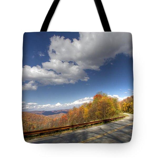 Cherohala Skyway Tote Bag by Debra and Dave Vanderlaan
