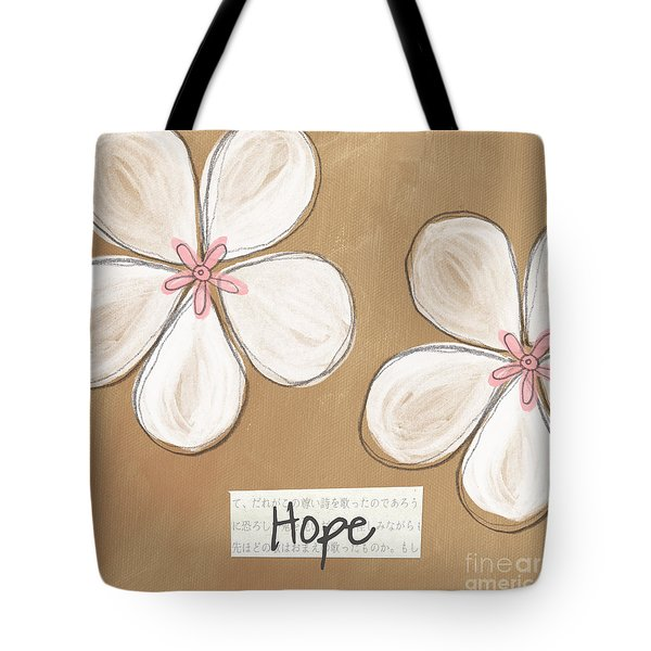 Cherry Blossom Hope Tote Bag by Linda Woods