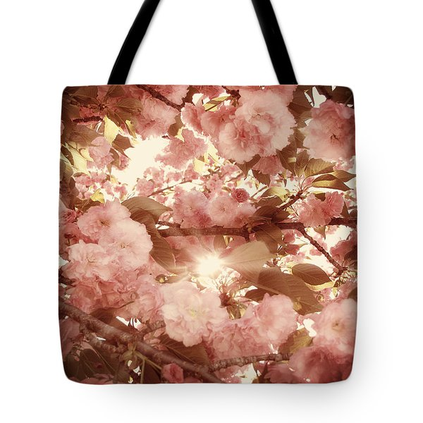 Cherry Blossom Sky Tote Bag by Amy Tyler