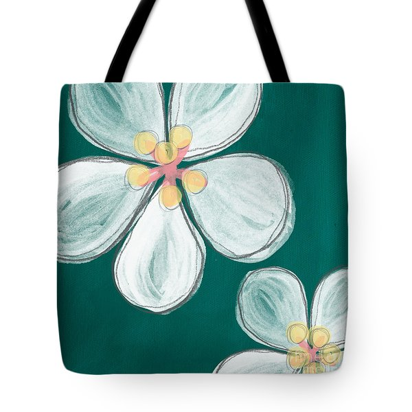 Cherry Blossoms Tote Bag by Linda Woods