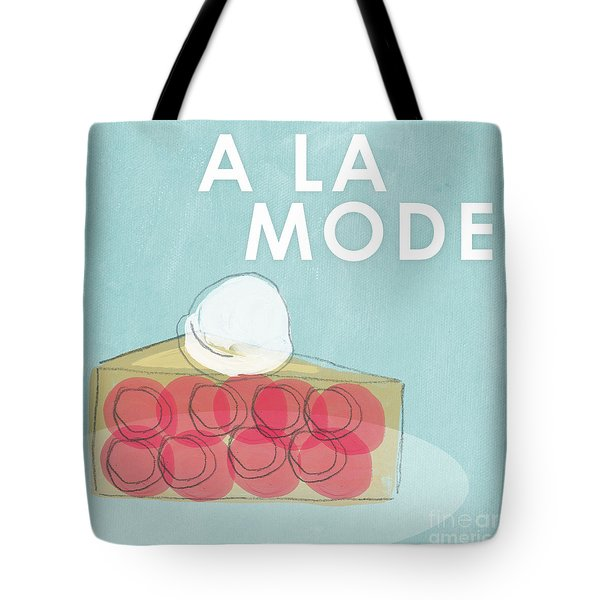 Cherry Pie A La Mode Tote Bag by Linda Woods