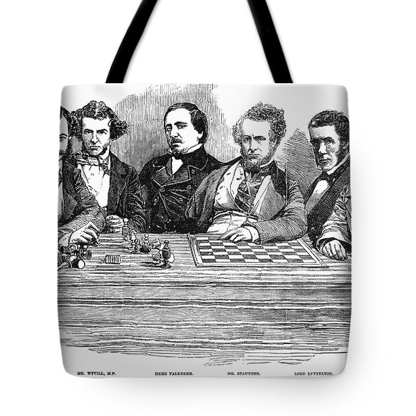 Chess Players, 1855 Tote Bag by Granger