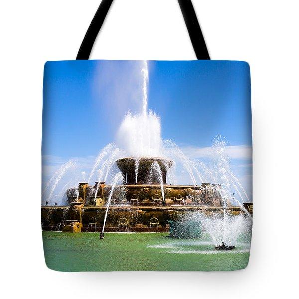 Chicago Buckingham Fountain Tote Bag by Paul Velgos