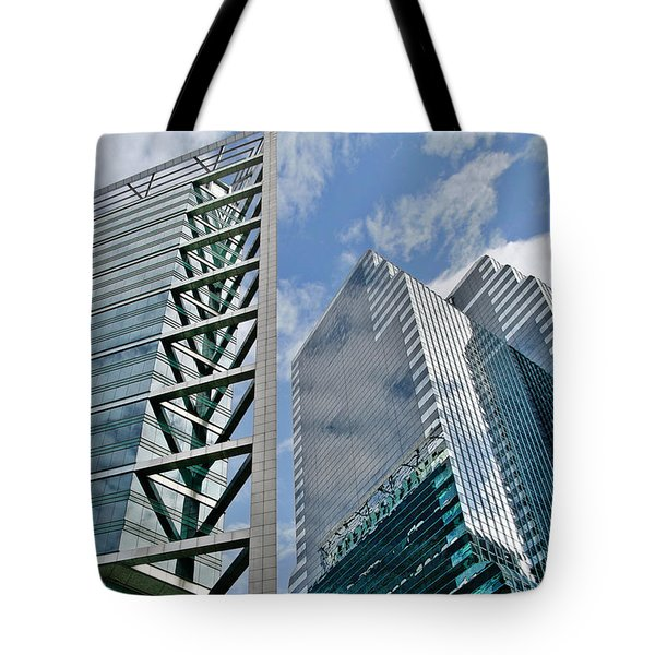 Chicago - City Of Big Shoulders Tote Bag by Christine Till