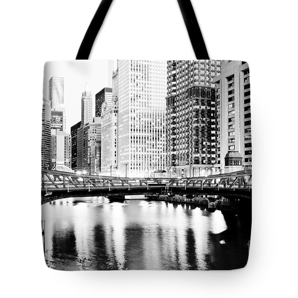 Chicago Downtown At Clark Street Bridge Tote Bag by Paul Velgos