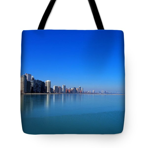 Chicago Skyline Tote Bag by Paul Ge