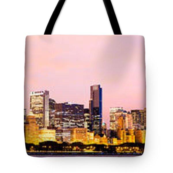 Chicago Skyline Panoramic Tote Bag by Paul Velgos