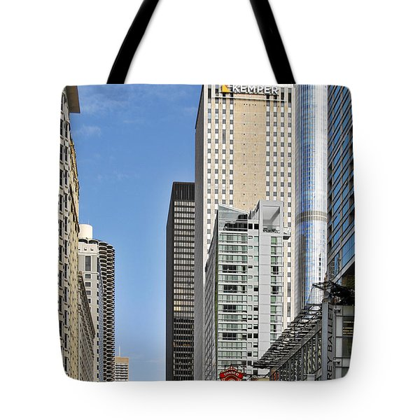 Chicago State Street - That Great Street Tote Bag by Christine Till