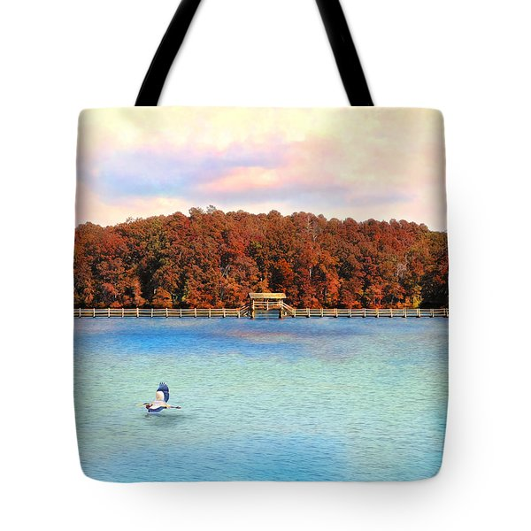 Chickasaw Bridge Tote Bag by Jai Johnson
