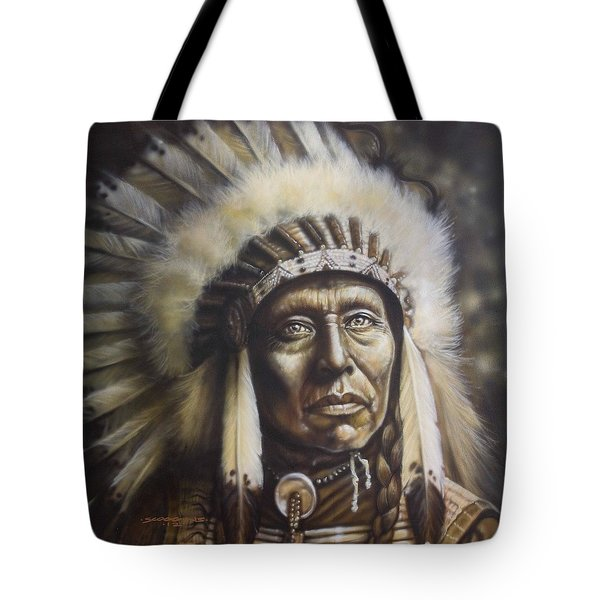 Chief Tote Bag by Tim  Scoggins