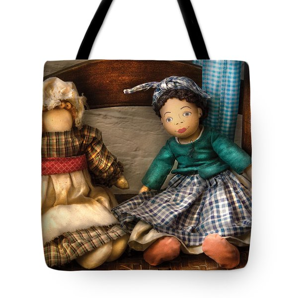 Children - Toys -  Dolls Americana  Tote Bag by Mike Savad