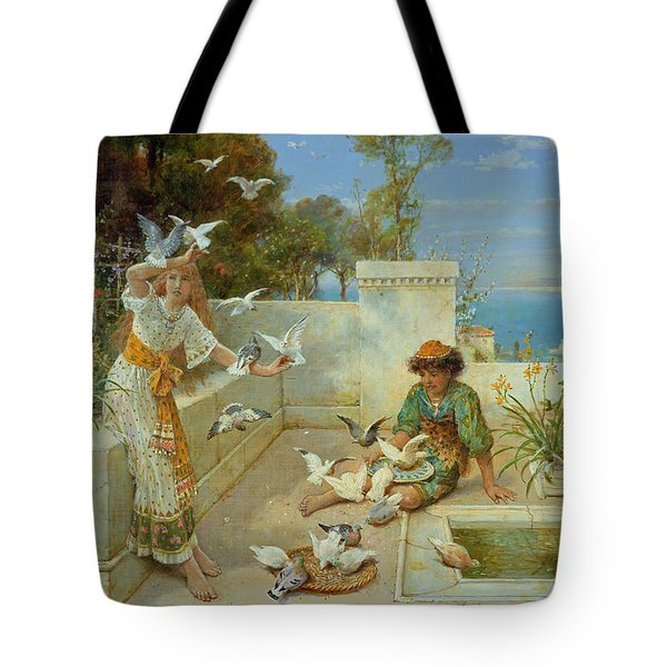 Children By The Mediterranean  Tote Bag by William Stephen Coleman