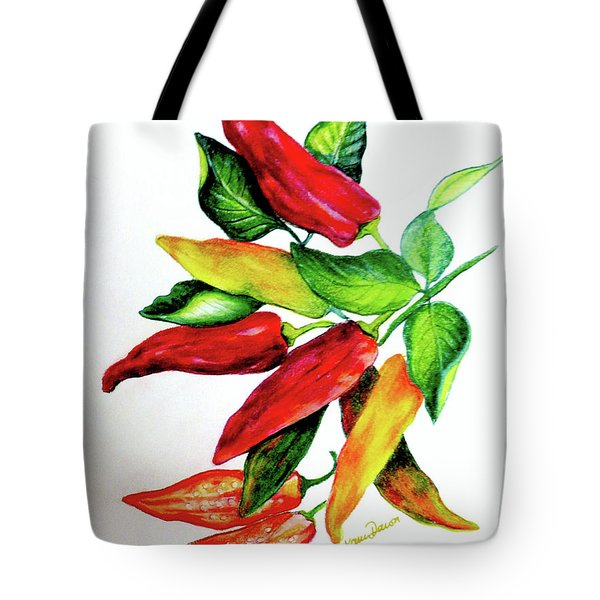 Chillies From My Garden Tote Bag by KARIN KELSHALL- BEST