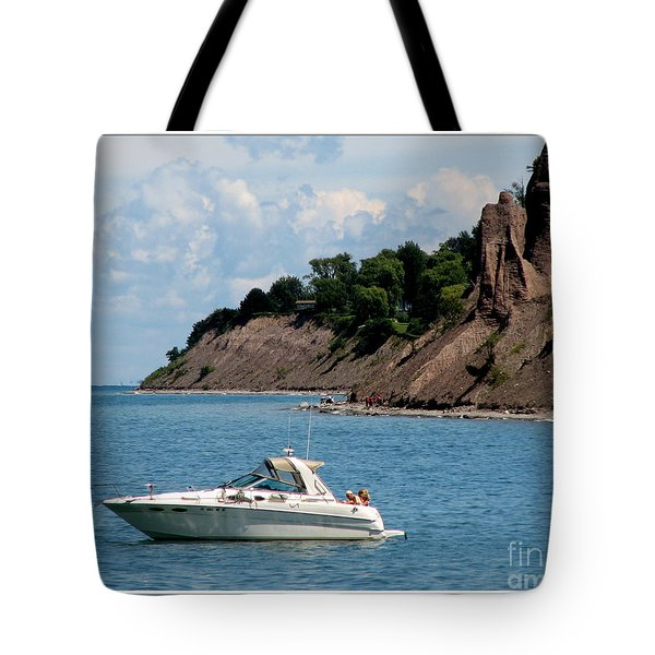 Chimney Bluffs On Lake Ontario Tote Bag by Rose Santuci-Sofranko