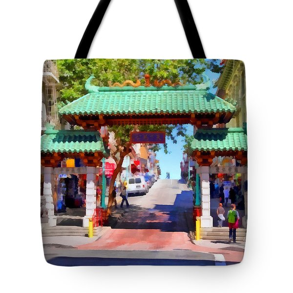Chinatown Gate In San Francisco . 7d7139 Tote Bag by Wingsdomain Art and Photography