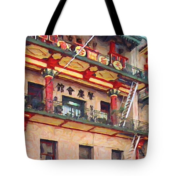 Chinatown Tote Bag by Wingsdomain Art and Photography