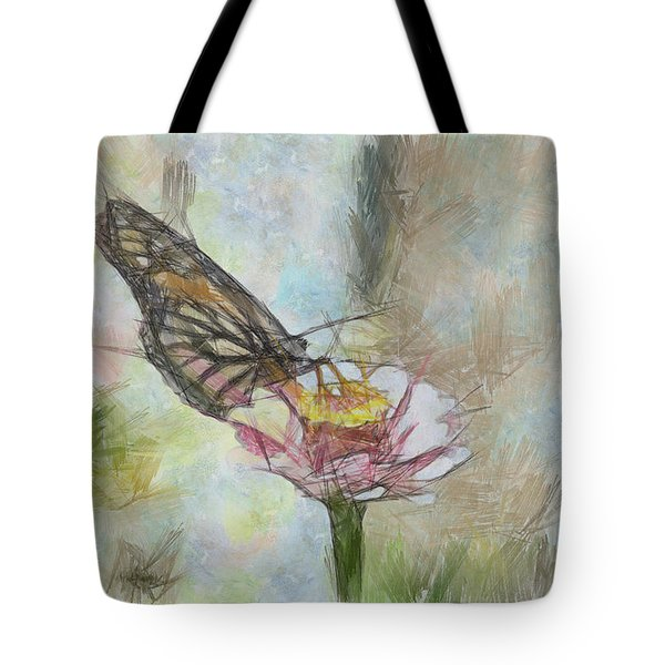 Chinese Butterfly Tote Bag by Trish Tritz