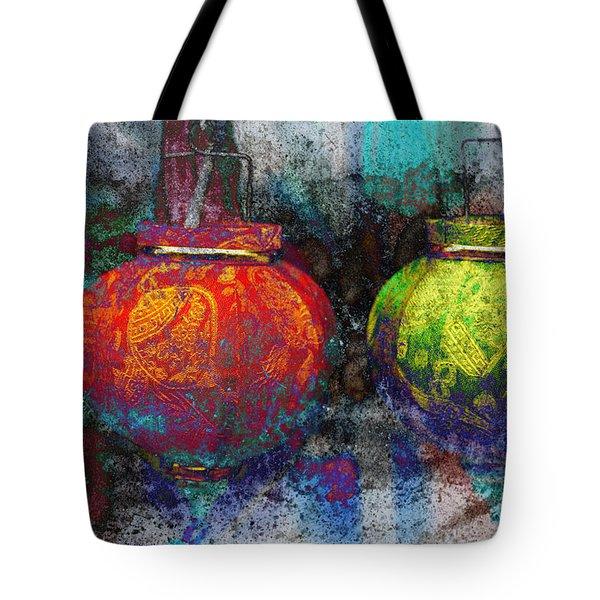 Chinese Lanterns Tote Bag by Skip Nall