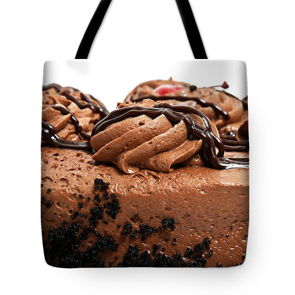 Chocolate Cake With A Cherry On Top 3 Tote Bag by Andee Design