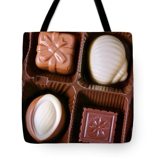 Chocolates Closeup Tote Bag by Carlos Caetano