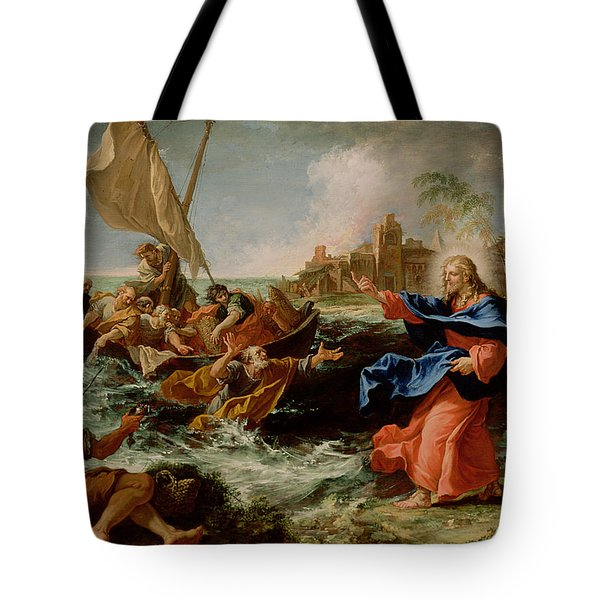 Christ At The Sea Of Galilee Tote Bag by Sebastiano Ricci