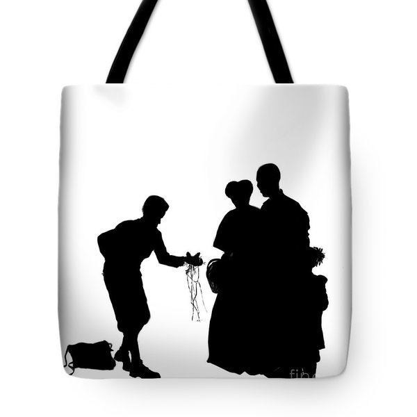 Christmas Gift - A Silhouette 1a Tote Bag by Reggie Duffie