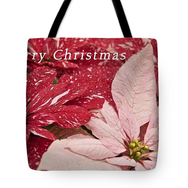 Christmas Poinsettias Tote Bag by Michael Peychich