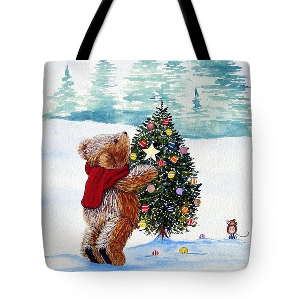 Christmas Star Tote Bag by Gordon Lavender