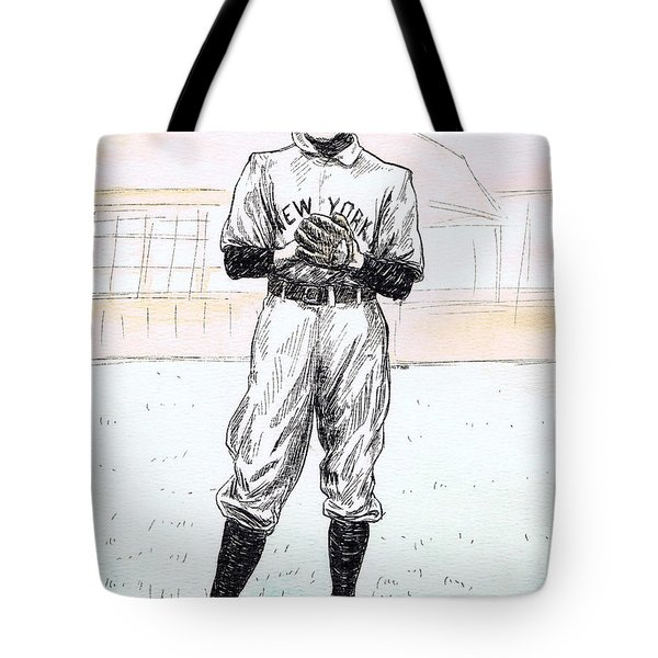 Christy Mathewson Tote Bag by Mel Thompson