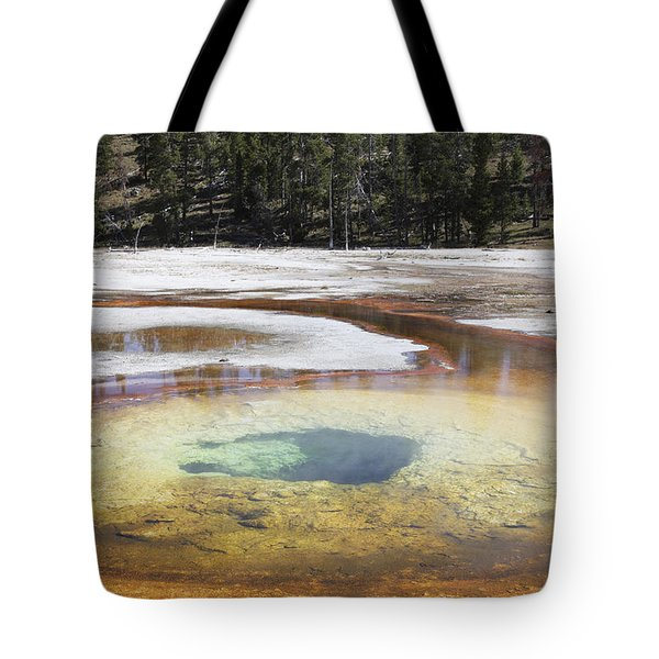 Chromatic Pool Hot Spring, Upper Geyser Tote Bag by Richard Roscoe