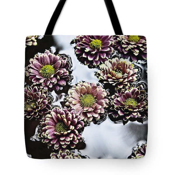Chrysanthemum 3 Tote Bag by Skip Nall