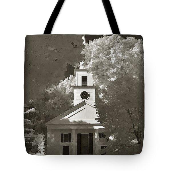 Church In Infrared Tote Bag by Joann Vitali