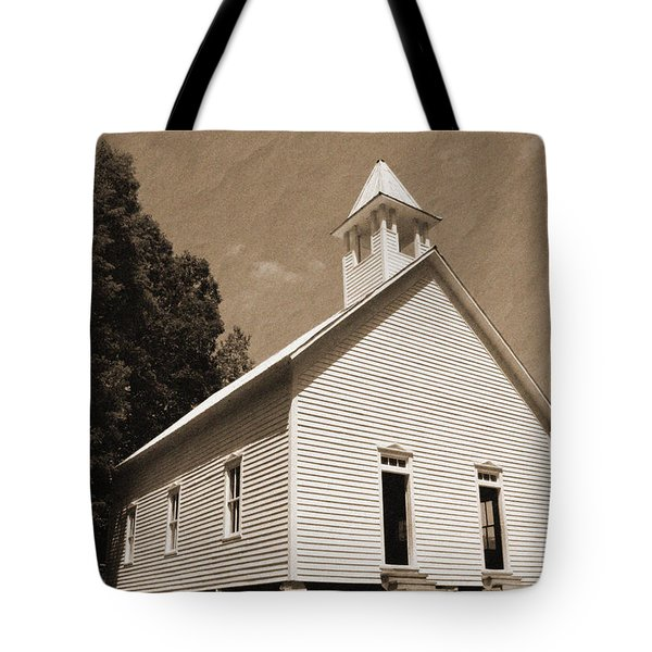 Church in the Mountains Tote Bag by Barry Jones