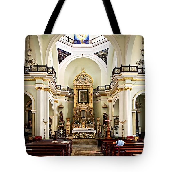 Church interior in Puerto Vallarta Tote Bag by Elena Elisseeva