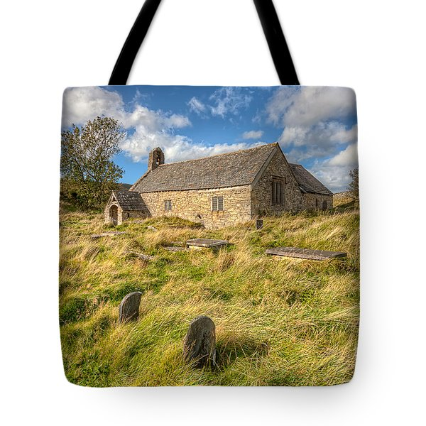 Church Of Celynnin Tote Bag by Adrian Evans