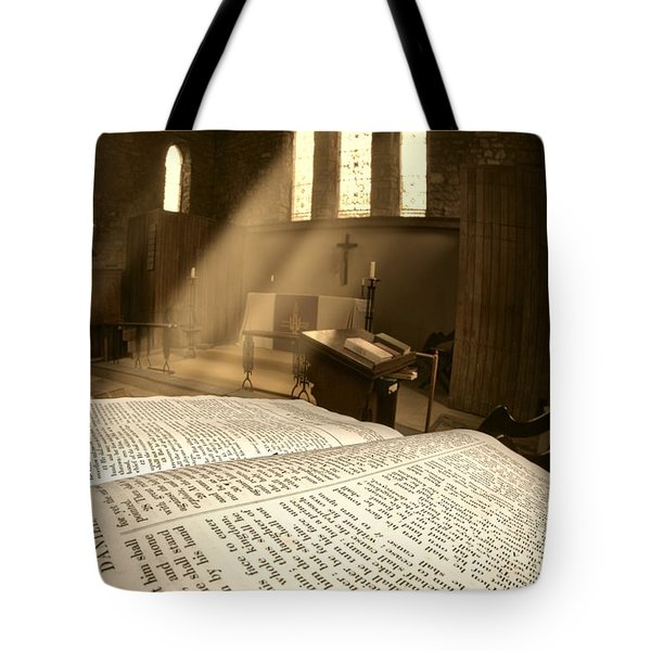 Church, Rosedale, West Yorkshire Tote Bag by John Short