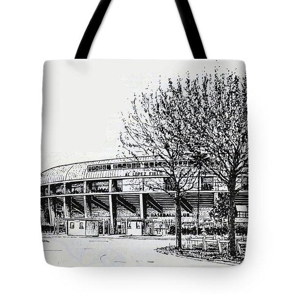 Cincinnati Reds/al Lopez Stadium Tampa Florida Tote Bag by Frank Hunter