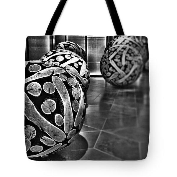 Circles Of Wood Tote Bag by Douglas Barnard