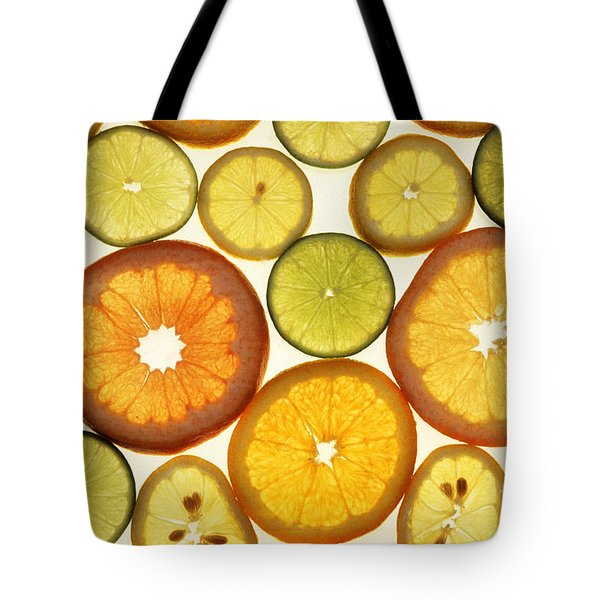 Citrus Slices Tote Bag by Photo Researchers