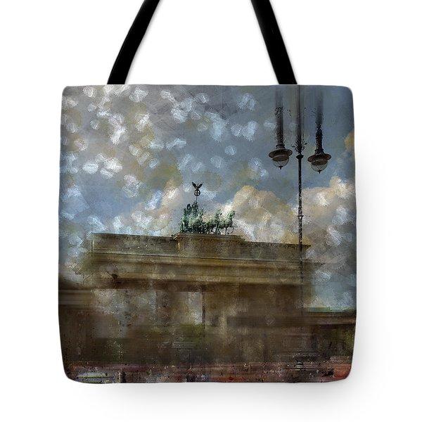 City-Art BERLIN Brandenburger Tor II Tote Bag by Melanie Viola