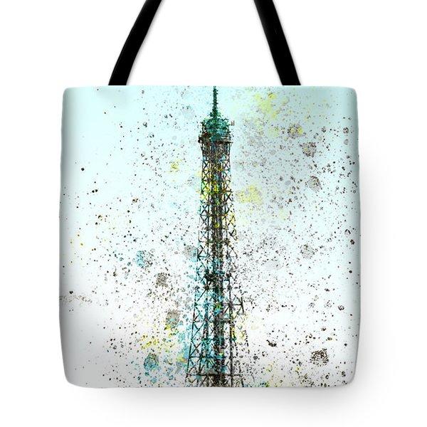 City-Art PARIS Eiffel Tower II Tote Bag by Melanie Viola