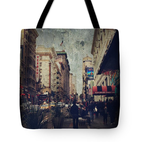 City Sidewalks Tote Bag by Laurie Search