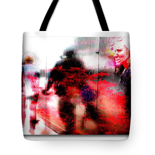 City Street Reflections Tote Bag by Mal Bray